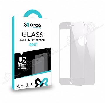 Eiroo iPhone 7 / 8 Tempered Glass Ön + Arka Beyaz Cam Ekran Koruyucu
