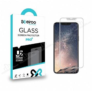 Eiroo iPhone X Curve Tempered Glass Full Beyaz Cam Ekran Koruyucu