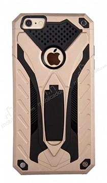Eiroo Iron Care iPhone 6 / 6S Standlı Ultra Koruma Gold Kılıf