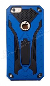 Eiroo Iron Care iPhone 6 / 6S Standlı Ultra Koruma Lacivert Kılıf
