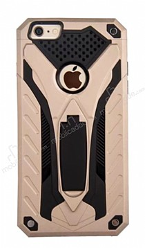 Eiroo Iron Care iPhone 6 Plus / 6S Plus Standlı Ultra Koruma Gold Kılıf