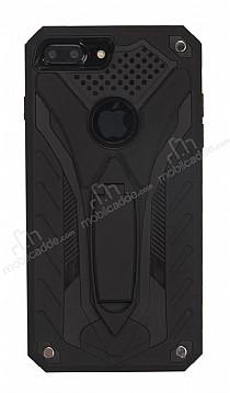 Eiroo Iron Care iPhone 7 Plus Standlı Ultra Koruma Siyah Kılıf