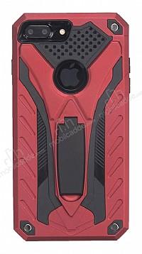 Eiroo Iron Care iPhone 7 Plus Standlı Ultra Koruma Kırmızı Kılıf