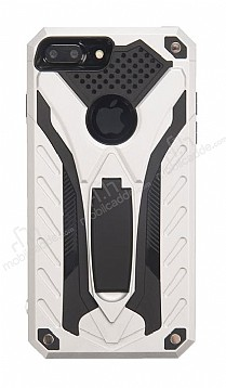 Eiroo Iron Care iPhone 7 Plus Standlı Ultra Koruma Silver Kılıf