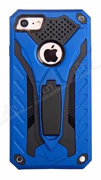 Eiroo Iron Care iPhone 7 Standlı Ultra Koruma Lacivert Kılıf