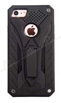 Eiroo Iron Care iPhone 7 Standlı Ultra Koruma Siyah Kılıf