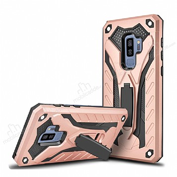Eiroo Iron Care Samsung Galaxy A8 Plus 2018 Ultra Koruma Rose Gold Kılıf