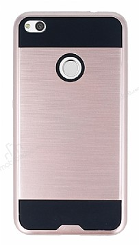 Eiroo Iron Shield Huawei P9 Lite 2017 Ultra Koruma Rose Gold Kılıf