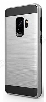 Eiroo Iron Shield Samsung Galaxy A8 2018 Ultra Koruma Silver Kılıf