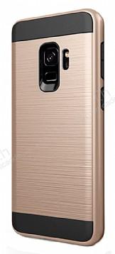 Eiroo Iron Shield Samsung Galaxy A8 2018 Ultra Koruma Gold Kılıf