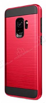Eiroo Iron Shield Samsung Galaxy A8 Plus 2018 Ultra Koruma Kırmızı Kılıf