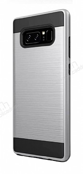 Eiroo Iron Shield Samsung Galaxy Note 8 Ultra Koruma Silver Kılıf