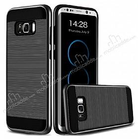 Eiroo Iron Shield Samsung Galaxy S8 Plus Ultra Koruma Dark Silver Kılıf