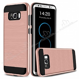Eiroo Iron Shield Samsung Galaxy S8 Plus Ultra Koruma Rose Gold Kılıf