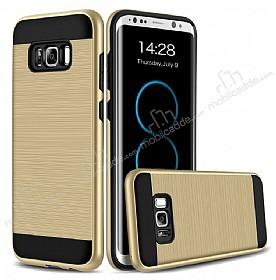 Eiroo Iron Shield Samsung Galaxy S8 Ultra Koruma Gold Kılıf