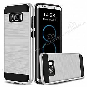 Eiroo Iron Shield Samsung Galaxy S8 Ultra Koruma Silver Kılıf