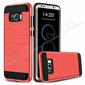 Eiroo Iron Shield Samsung Galaxy S8 Ultra Koruma Kırmızı Kılıf