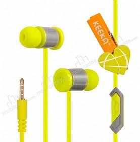 Eiroo Latch Mikrofonlu Kulakiçi Sarı Kulaklık