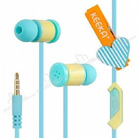 Eiroo Latch Mikrofonlu Kulakiçi Mavi Kulaklık