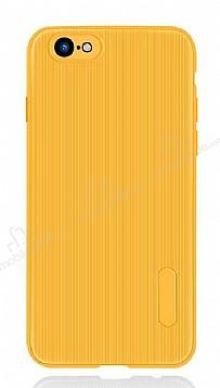 Eiroo Line iPhone SE 2020 Sarı Silikon Kılıf