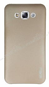 Eiroo Lucatelli Samsung Galaxy E7 Ultra İnce Gold Rubber Kılıf
