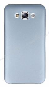 Eiroo Lucatelli Samsung Galaxy E7 Ultra İnce Silver Rubber Kılıf