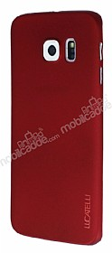 Eiroo Lucatelli Samsung Galaxy S6 Edge Ultra İnce Bordo Rubber Kılıf