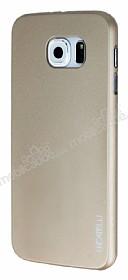 Eiroo Lucatelli Samsung i9800 Galaxy S6 Ultra İnce Gold Rubber Kılıf