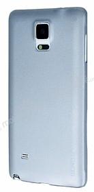 Eiroo Lucatelli Samsung N9100 Galaxy Note 4 Ultra İnce Silver Rubber Kılıf