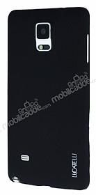 Eiroo Lucatelli Samsung N9100 Galaxy Note 4 Ultra İnce Siyah Rubber Kılıf