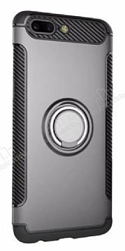 Eiroo Mage Fit Huawei Mate 9 Pro Standlı Ultra Koruma Silver Kılıf