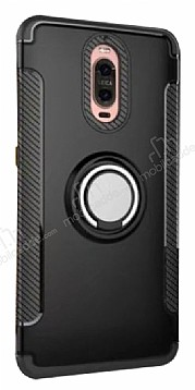 Eiroo Mage Fit Huawei Mate 9 Pro Standlı Ultra Koruma Siyah Kılıf