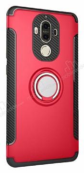 Eiroo Mage Fit Huawei Mate 9 Standlı Ultra Koruma Kırmızı Kılıf