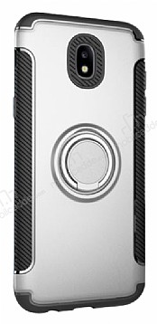 Eiroo Mage Fit Huawei Mate 9 Standlı Ultra Koruma Silver Kılıf