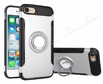 Eiroo Mage Fit iPhone 6 / 6S Standlı Ultra Koruma Silver Kılıf
