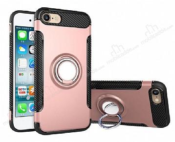 Eiroo Mage Fit iPhone 6 / 6S Standlı Ultra Koruma Rose Gold Kılıf