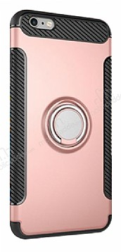 Eiroo Mage Fit iPhone 6 Plus / 6S Plus Standlı Ultra Koruma Rose Gold Kılıf