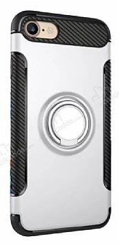 Eiroo Mage Fit iPhone 7 / 8 Standlı Ultra Koruma Silver Kılıf