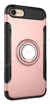 Eiroo Mage Fit iPhone 7 / 8 Standlı Ultra Koruma Rose Gold Kılıf