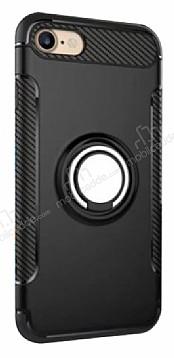 Eiroo Mage Fit iPhone 7 / 8 Standlı Ultra Koruma Siyah Kılıf