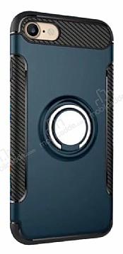 Eiroo Mage Fit iPhone 7 / 8 Standlı Ultra Koruma Lacivert Kılıf