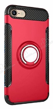Eiroo Mage Fit iPhone 7 / 8 Standlı Ultra Koruma Kırmızı Kılıf