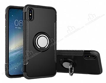Eiroo Mage Fit iPhone X Standlı Ultra Koruma Siyah Kılıf