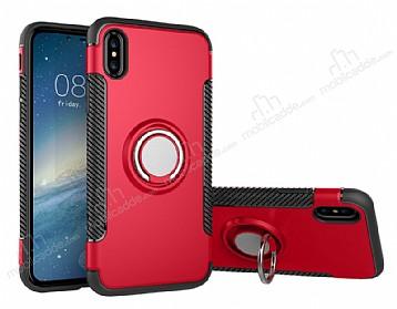 Eiroo Mage Fit iPhone X Standlı Ultra Koruma Kırmızı Kılıf