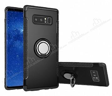Eiroo Mage Fit Samsung Galaxy Note 8 Standlı Ultra Koruma Siyah Kılıf