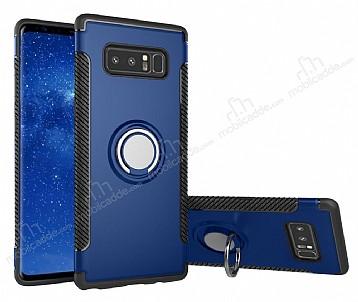 Eiroo Mage Fit Samsung Galaxy Note 8 Standlı Ultra Koruma Lacivert Kılıf