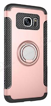 Eiroo Mage Fit Samsung Galaxy S7 Standlı Ultra Koruma Rose Gold Kılıf