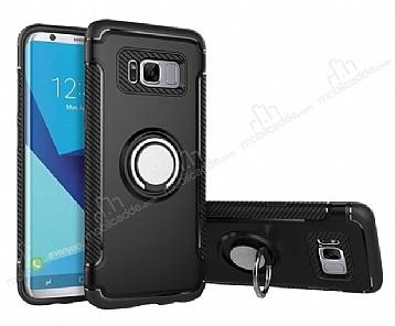 Eiroo Mage Fit Samsung Galaxy S8 Plus Standlı Ultra Koruma Siyah Kılıf