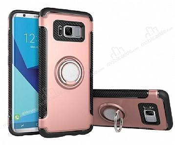 Eiroo Mage Fit Samsung Galaxy S8 Plus Standlı Ultra Koruma Rose Gold Kılıf