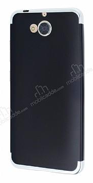 Eiroo Matte Fit Casper Via A1 Silver Kenarlı Siyah Silikon Kılıf